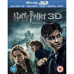 Harry Potter And The Deathly Hallows Part 1 (Blu-ray 3D + Blu-ray + DVD + Digital Copy) [2011][Region Free]